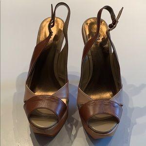 Bakers Farrah Brown Tan Leather Heels